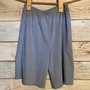 Size 18 blue elastic waist shorts by Blair.
